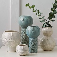 Atelier Stella Vases #westelm // how ridiculously sweet are these? they would look great near an alexandre girard print.