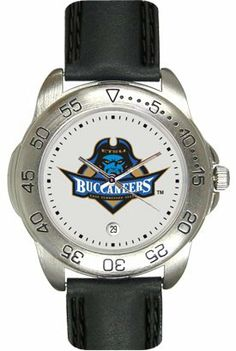 East Tennessee State University Buccaneers Mens Leather Sports Watch by SunTime. $44.99
