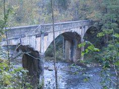 Old Pictures of Elizabethton Tennessee | Abandoned Doe River Bridge #1