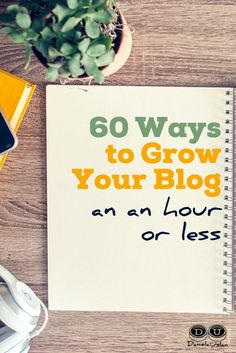 It's the small actions that add up to grow your blog. Check out these 60 ways to grow your blog in an hour or less.