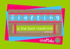 'Crafting is the best medicine.' We couldn't agree more and Craftalu makes crafting with your kids fun & hassle free! Check us out at: https://www.facebook.com/pages/Craftalu/239766622882005