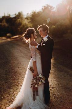 brittany + luke   Amelie Gown by Watters for BHLDN   image via: junebug weddings   #BHLDNbride
