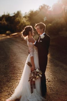 brittany + luke | Amelie Gown by Watters for BHLDN | image via: junebug weddings | #BHLDNbride