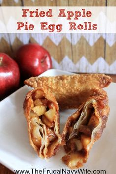 Looking for a simple and easy snack recipe? These Fried Apple Pie Egg Rolls are one of the best apple recipe you'll ever try! Egg Roll Recipes, Snack Recipes, Dessert Recipes, Cooking Recipes, Pie Recipes, Best Apple Recipes, Fall Recipes, Favorite Recipes, Pumpkin Recipes
