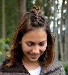 40 Cute and Cool Hairstyles for Teenage Girls medium hairstyle with braided bangs Plaits Hairstyles, Fast Hairstyles, Pretty Hairstyles, Girl Hairstyles, Hairstyle Ideas, School Hairstyles, Funny Hairstyles, Female Hairstyles, Everyday Hairstyles