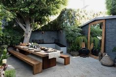 Some outdoor shopping in LA # sponsored ., A little outdoor shopping in LA # sponsored When historic inside concept, the pergola is suffering from a modern day rebirth these types of days. Backyard Garden Design, Large Backyard, Backyard Patio, Backyard Landscaping, Wood Patio, Outdoor Wood Tiles, Urban Garden Design, Flagstone Patio, Concrete Patio