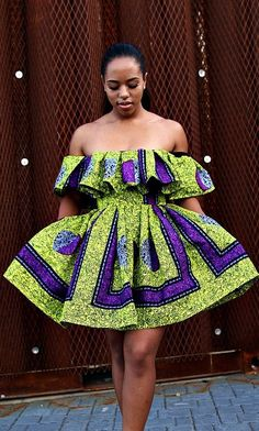 awesome Evelyn 2 Piece Off Shoulder Top and Gather Skirt. Ankara | Dutch wax | Kente | K...
