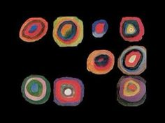 Kandinsky squares with concentric circles painting animated video