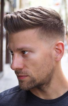 Hair Length Requirement For A Fade. frisuren männer Hair Length Requirement For A Fade Hairstyle For Men In 2020 Short Hair Styles For Round Faces, Short Hair Cuts, Medium Hair Styles, Curly Hair Styles, Short Hair Styles Men, Short Quiff, Bun Styles, Hair Medium, Beard Styles