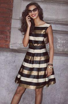 Eliza j white lace black dress.