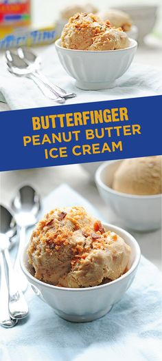 Satisfy your sweet tooth cravings with this recipe for homemade Butterfinger Peanut Butter Ice Cream. This decadent frozen dessert is quick and easy to make, and it is filled with crushed pieces of crispety, crunchety, peanut-buttery BUTTERFINGER® candy bars. Enjoy every spoonful of this no-bake sweet treat.