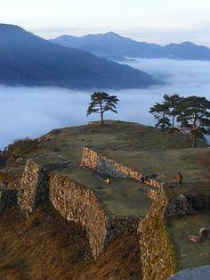 Takeda Castle Ruins in Hyogo, Japan