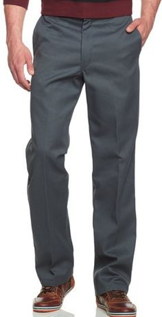 """$20  Dickies Men's Original 874 Work Pant - NEW size 30/32  Houston, MO (65483) New cost $44. Asking $20 65% Polyester 35% Cotton - grey color Hook and Eye closure Flat-front pant in straight-leg silhouette featuring wide waistband with tunnel loops and rear button-through welt pockets Zip fly with hook-and-tab closure Stain- and wrinkle-resistant technology Belt loops best suited for up to 1.5"""" belt Houston, MO pickup or can be shipped if buyer pays shipping. info@ReliefShare.org"""