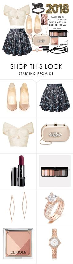 """""""N E W • Y E A R S • E V E"""" by abigail-fredricks ❤ liked on Polyvore featuring Chanel, Christian Louboutin, Alice McCall, Badgley Mischka, Lancôme, Anne Sisteron and Clinique"""