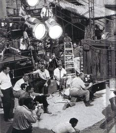 """On the set of """"Spartacus"""" filmed in Spain. This is only film that Stanley Kubrick made just as a director. Not liking having no rights over the script or production he vowed only to make films that he had full final cut. Old Movies, Great Movies, Stanley Kubrick, Director, Visual Effects, Vintage Hollywood, Back In The Day, On Set, Cinematography"""