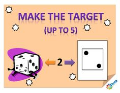 """Make the Target (up to 5)"" - Match quantities and numbers up to 5. Supports learning Common Core Standards: K.OA.5, K.CC.3, K.CC.4, K.CC.5 [KNP Task # S 2268.0]"