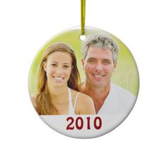 Our First Christmas Photo Ornaments