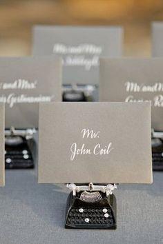 Plan de table original pour un mariage aux nuances de gris
