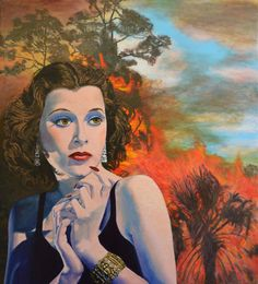 HUGE original painting on canvas Jane Ianniello noirscapes