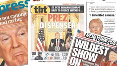 <p>On Friday, newspaper front pages across the U.S. and around the globe reacted to the rambling address. (newseum.org) </p>
