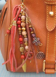 Purse Charm, Charm Tassel, Zipper Pull, Key Chain ❥Teresa Restegui http://www.pinterest.com/teretegui/❥