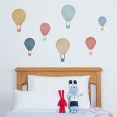 Set off for a wonderful land with these super fun hot air balloon wall stickers. Great for filling up awkward blank spaces around a room or makes a nice feature above a bed or dresser. Boys Wall Stickers, Wall Decor Stickers, Balloon Wall, Hot Air Balloon, Small Balloons, Large Baskets, Playroom, Home Decor, Awkward