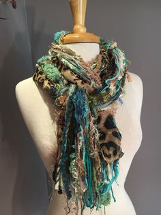 A personal favorite from my Etsy shop https://www.etsy.com/listing/469098582/fringie-in-swamp-cheetah-aqua-blue-green