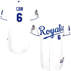 Lorenzo Cain Kansas City Royals Majestic Authentic Cool Base Player Jersey with 2015 World Series Champions Patch - White - $207.09