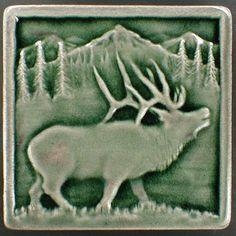 Elk tile Animal art decorative tile ceramic by CampbellTileworks