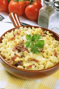 14802346 oven baked pasta carbonara traditional italian recipe 634x949 Italian Cuisine: Traditional Italian Recipes