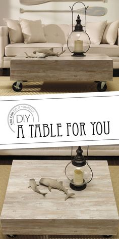 A table to floor you! Try this DIY today! Home Hardware, Diy Table, Wood Work, Diy Furniture, Projects To Try, Decorating Ideas, Woodworking, Indoor, Flooring
