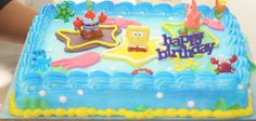 half sheet spoongebob cake | SPONGEBOB CAKE