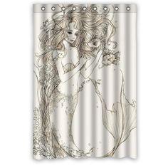 Quality Mermaid Shower Curtain 48