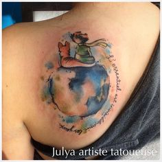 #thelittleprince #thelittleprinceart #thelittleprincetattoo #littleprince #littleprincetattoo #tattoo #tats #tattooartist #watercolortattoo