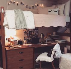 Depending on the room layout, we could do seating/futon in another place and the desks under the beds