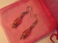 Day9, Pink Glass Earrings. Done.