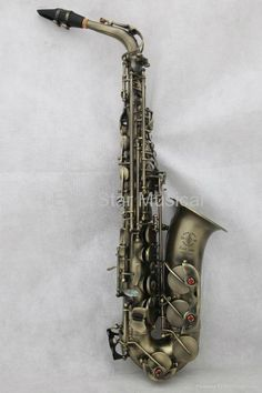 antique bronze alto saxophone