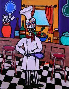 Dia de los Muertos, sugar skull, painting, great gift, ideas, cook, kitchen, food blog, present