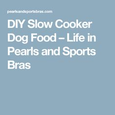 DIY Slow Cooker Dog Food – Life in Pearls and Sports Bras