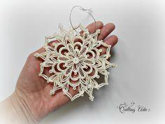 Enclavijada copo de nieve-adorno-adorno árbol por PaperArtbyAda