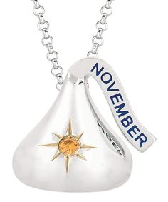 november hershey kiss | Hershey's Kiss Sterling Silver 'November' Kiss Necklace | Abby Kait