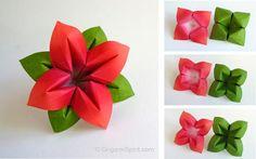 Post image for Cómo hacer una flor y hojas de Origami
