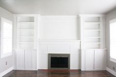 billy bookcase fireplace built-in