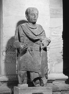 The Warrior of Vachères' as displayed in the Musée Calvet, Avignon, France. Late 1st century BC.