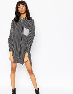 ASOS Stripe Shirt Dress
