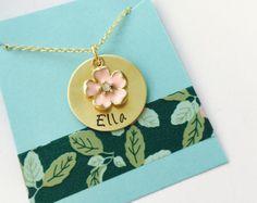 Flower Girl Necklace Flower Girl Gift Flower Necklace Wedding...