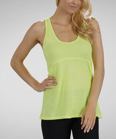 Take a look at this Yellow Racerback Tank by Marika on #zulily today!