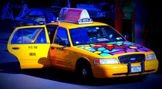 "Portraits of Hope: ""Garden in Transit,"" NYC Taxi, Flower Taxi."