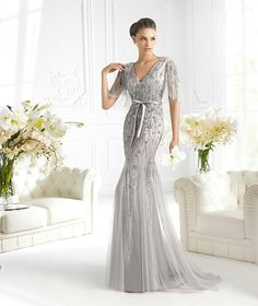 Silver Wedding Dress by San Patrick Wedding Dress Over 40, Second Wedding Dresses, Silver Dresses For Wedding, Wedding Gowns, Silver Weddings, Wedding Dressses, Second Weddings, Anniversary Dress, 25th Anniversary