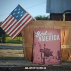 """Special 4th of July blog post, """"Remember."""" • God Bless America • American flag • 4th of July stationery • Southern Fried Design Barn • Southern Sayings"""